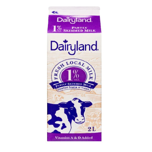 Dairyland 1% Milk 2 L  Vitamin A & D Added