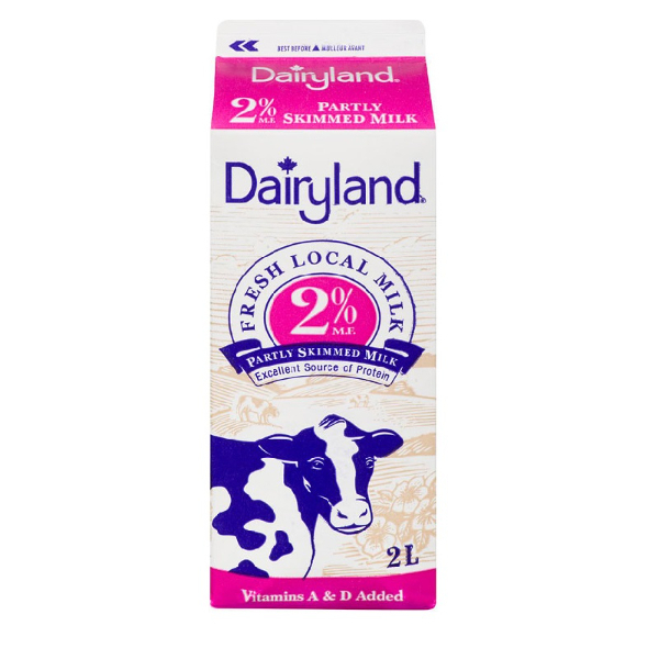 Dairyland 2% Milk - 2 L  Vitamin A & D Added
